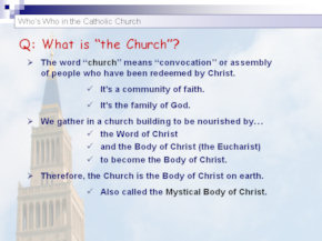 Who's Who in the Catholic Church for the Catechumenate Period
