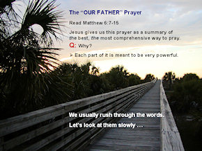 Our Father Prayer PPT for Period of Purification