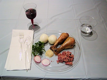 Setup for a parish Passover Seder