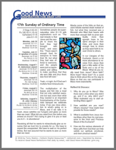 bulletin inserts for Catholic faith
